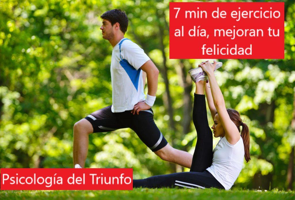 El ejercicio fisico ayuda a ser feliz, como ser feliz es cuestion de aptitud al deporte y hacer ejercicio fisico
